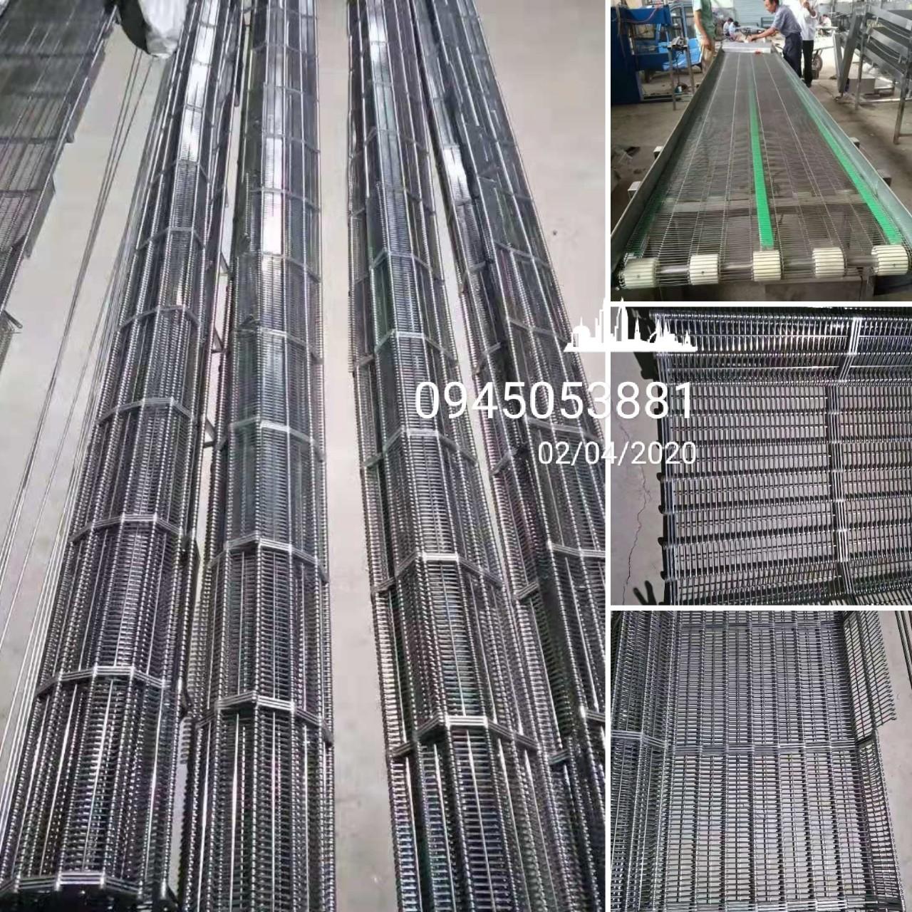 Băng tải lưới Inox 304 sợi đan bậc thang - chữ Z - Chữ I - Chạy Thẳng - Sợi Xoắn