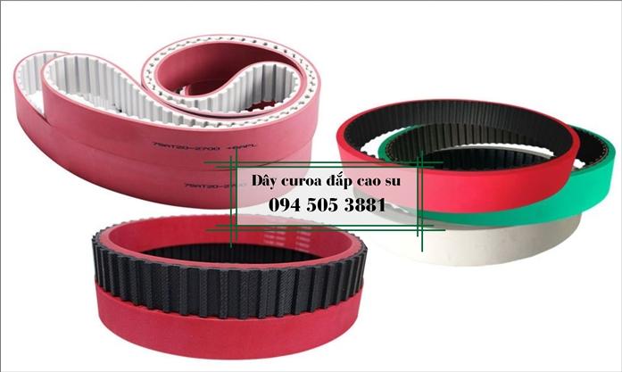 Dây curoa răng đắp cao su đỏ, xanh, trắng | Special Belt | Rubber Belt