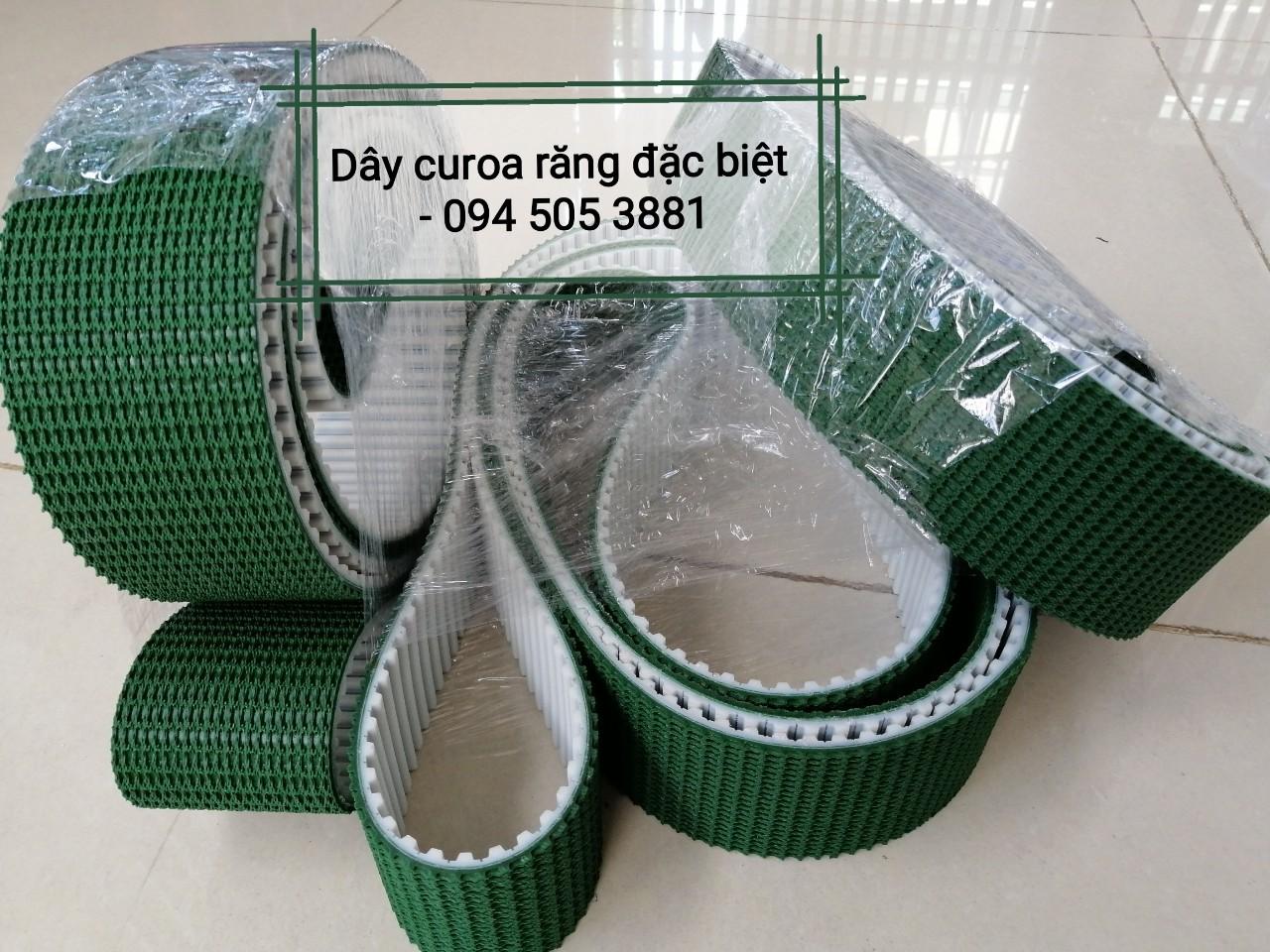 Dây curoa răng PU đắp băng tải PVC Xanh Gai