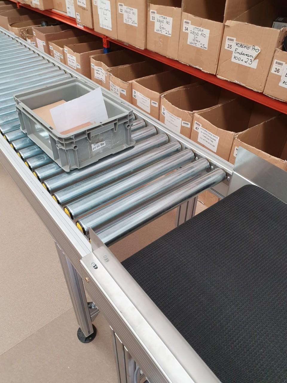 Khung băng tải con lăn - khung băng tải dạng xếp - Băng tải Vật Tư Thiên Lộc Materials