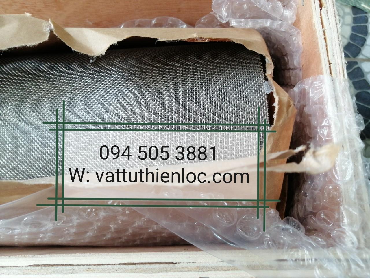 Lưới lọc Inox 304 20 Mesh/inch, Bản rộng W 1400mm, Lưới Lọc Inox Nhập khẩu