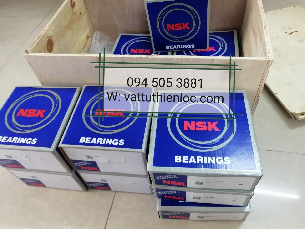 Vòng Bi Bạc Đạn Bearing NSK - Vòng bi 23122 CAMKE4 + Măng xông H3122